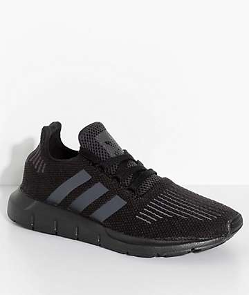 adidas Boys Swift Run Core & Utility Black Shoes