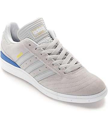 adidas Busenitz Grey, Grey, & Bluebird Skate Shoes
