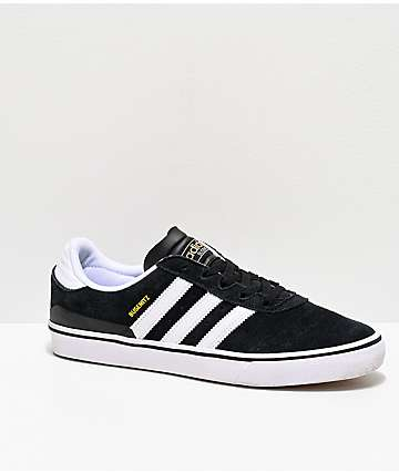 adidas Busenitz Vulc Black & White Skate Shoes