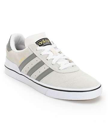 adidas Busenitz Vulc Grey & White Skate Shoes