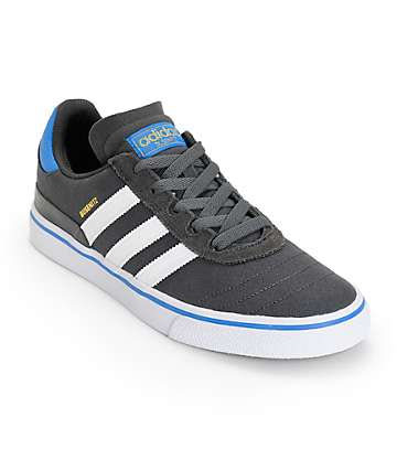 adidas Busenitz Vulc Grey Blue Skate Shoes