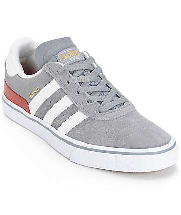 adidas Busenitz Vulc Grey Skate Shoes