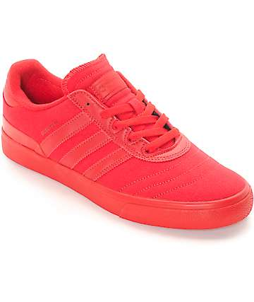 adidas Busenitz Vulc Red Mono Skate Shoes