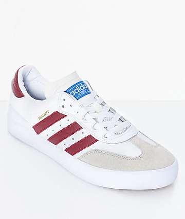 adidas Busenitz Vulc Samba RX zapatos en blanco y color vino