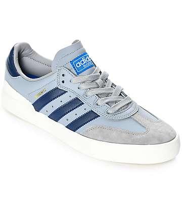 adidas Busenitz Vulc Samba zapatos en gris y azul marino