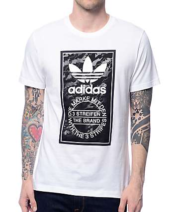 adidas Camo Tongue White T-Shirt