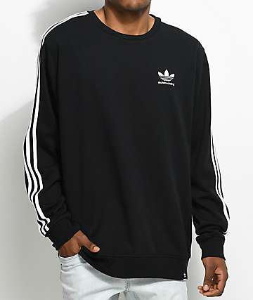 adidas Clima 2.0 Black Crew Neck Sweatshirt
