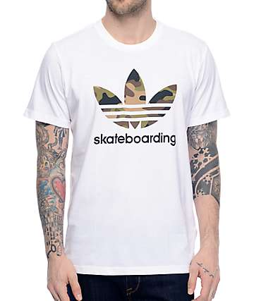 adidas Clima 3.0 Camo Fill White T-Shirt