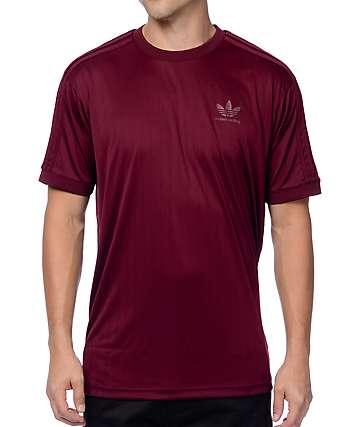 adidas Clima Club jersey de color borgoño