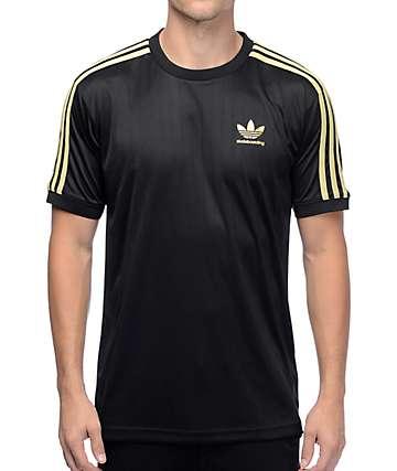 adidas Clima Club jersey en negro y dorado