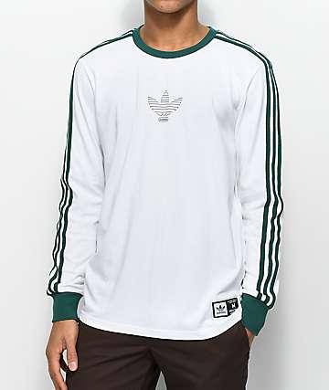 adidas Club White Long Sleeve T-Shirt