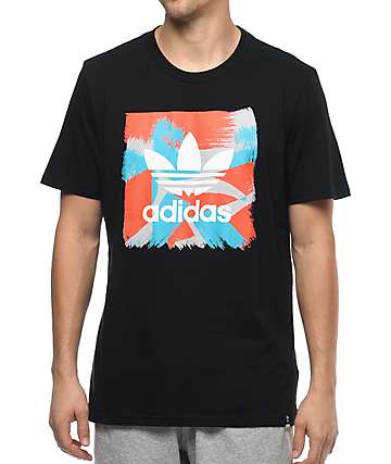 adidas Courtside Blackbird Logo Black T-Shirt