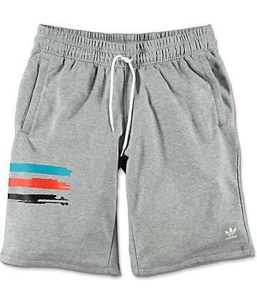 adidas Courtside Clima Grey Sweat Shorts