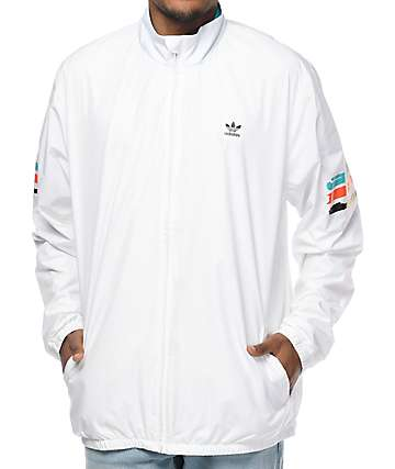 adidas Courtside Spec White Coaches Jacket