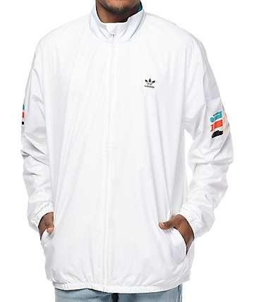 adidas Courtside Spec White Coaches Jacket