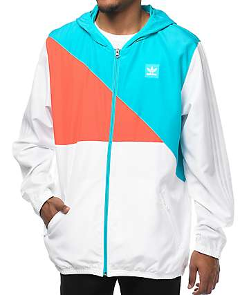 adidas Courtside White Windbreaker Jacket