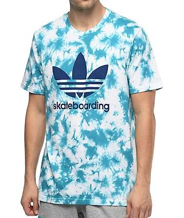 adidas Crystal 3.0 camiseta azul con efecto tie dye
