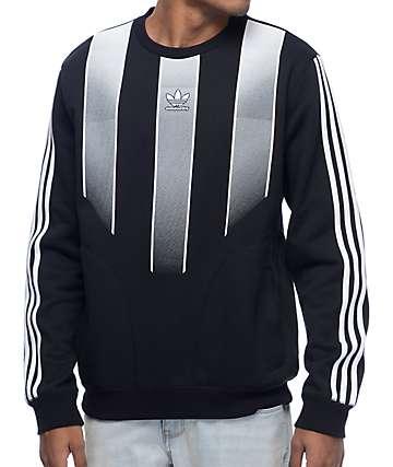 adidas EQT sudadera negra con cuello redondo