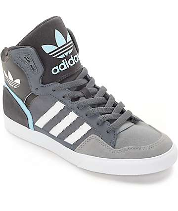 adidas Extaball Onix, White & Blue Womens Shoes