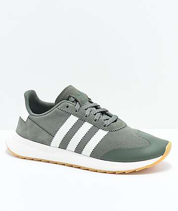 adidas Flashback Green & White Shoes