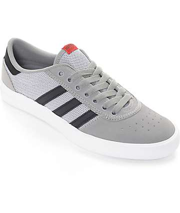 adidas Lucas Premiere ADV Grey, Black & White Suede Shoes