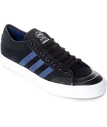 adidas Matchcourt ADV Black, Mystery Blue & White Suede Shoes