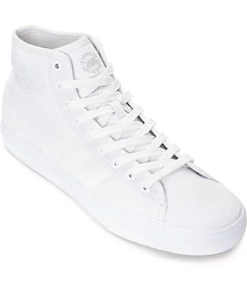 adidas Matchcourt Hi RX Mono White Canvas Shoes