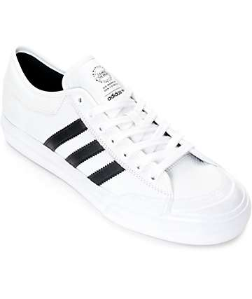 adidas Matchcourt White & Black Leather Shoes