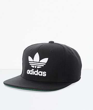 adidas Men's Trefoil Chain Black & White Snapback Hat