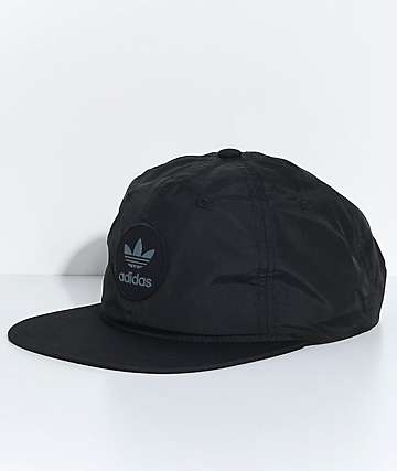 adidas Men's Trefoil Unstructured Black Snapback Hat