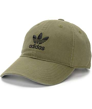 adidas Olive Baseball Hat (Womens)