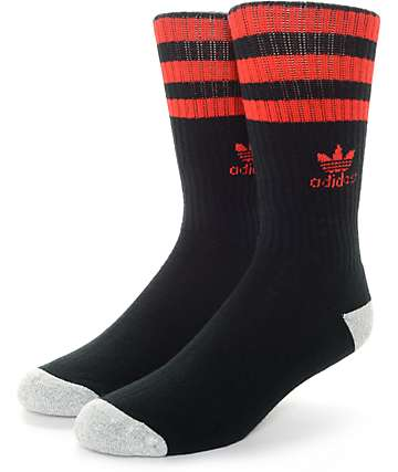 adidas Original Roller Black & Red Crew Socks