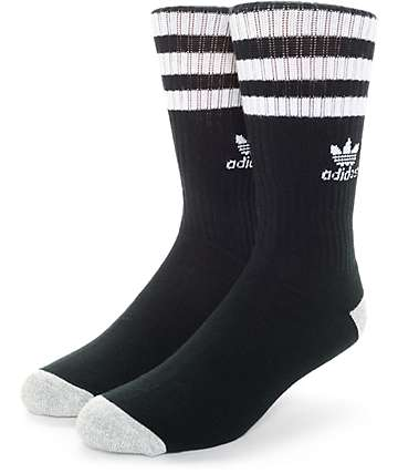adidas Original Roller Black & White Crew Socks