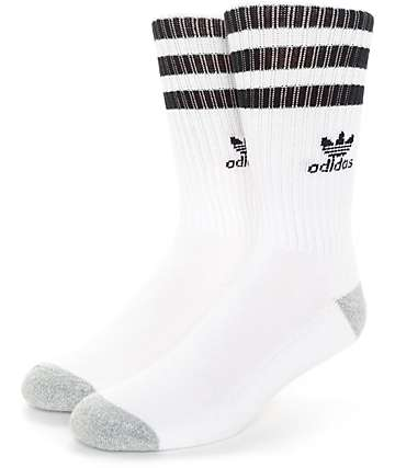 adidas Original Roller White & Black Crew Socks