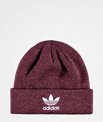 adidas Original Trefoil Burgundy Beanie