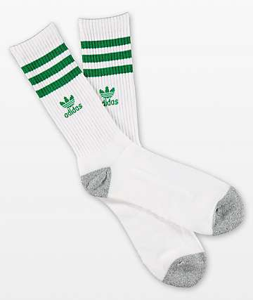 adidas Originals Roller White & Fairway Green Crew Socks