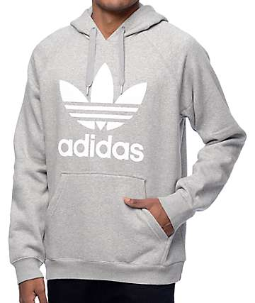 adidas Originals Trefoil Heather Grey Hoodie