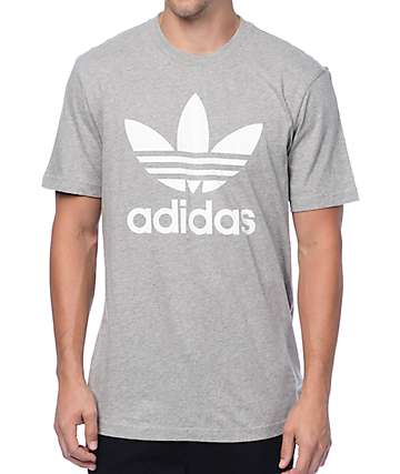adidas Originals Trefoil Heather Grey T-Shirt
