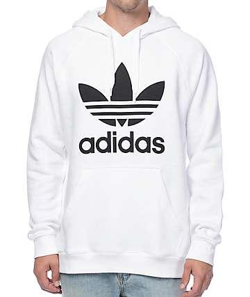adidas Originals Trefoil White Hoodie