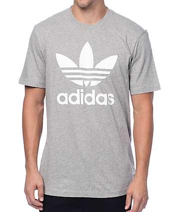 adidas Originals Trefoil camiseta gris