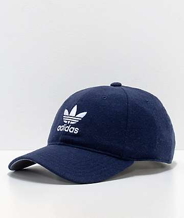 adidas Relaxed Navy Wool Dad Hat
