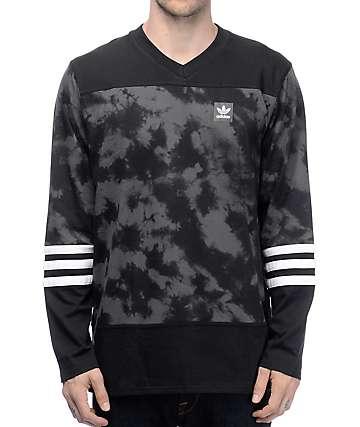 adidas Rodge Crystal Black Wash Long Sleeve Jersey
