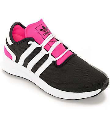 adidas SL Rise Black & Pink Womens Shoes