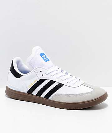 adidas Samba ADV White, Black & Gum Shoes