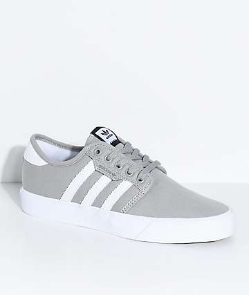adidas Seeley Grey & White Shoes