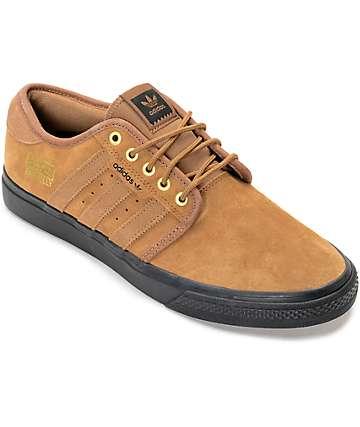adidas Seeley Jake Brown, Gold & Black Shoes