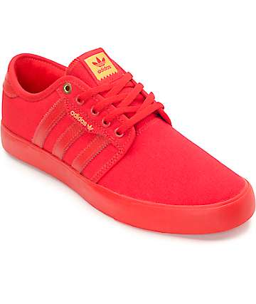 adidas Seeley Mono Scarlet Red Skate Shoes