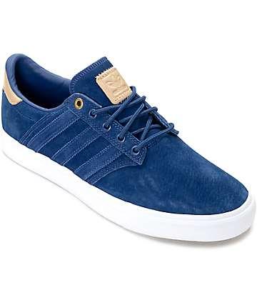 adidas Seeley Premium Class zapatos en azul y color natural