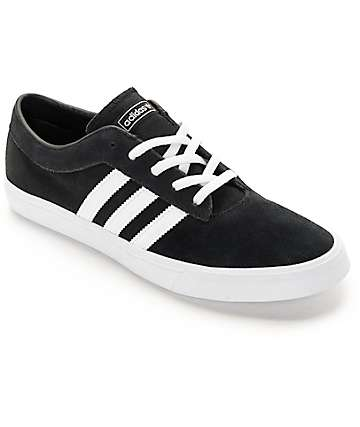 adidas Sellwood Black & White Skate Shoes