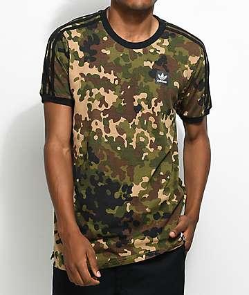adidas Striped camiseta camuflada